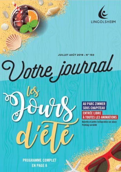Journal Municipal N°150 Juillet Août 2019